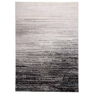 Weave & Wander Orin Black/Dark Gray 8 ft. x 11 ft. Abstract Area Rug - Home Depot