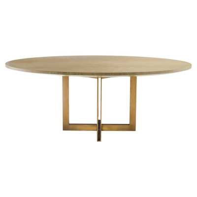 Eichholtz Melchior Mid Century Modern Washed Oak Veneer Oval Dining Table - Kathy Kuo Home