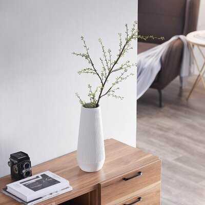 Ribbed Deco Vase - Wayfair
