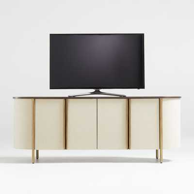 "Avedore Natural 64"" Media Console - Crate and Barrel"