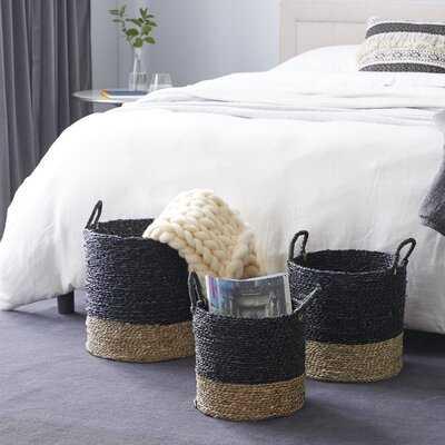 Woven 3 Piece Seagrass Basket Set - Wayfair