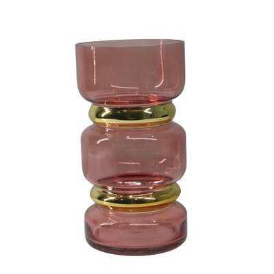 Hegarty Pink Indoor / Outdoor Glass Table vase - AllModern