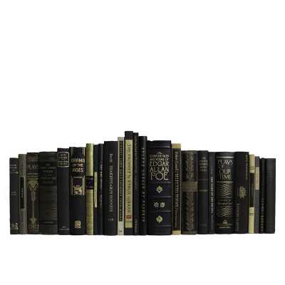Booth & Williams 25 Piece Authentic Onyx Theater Book Decorative Book Set - Perigold