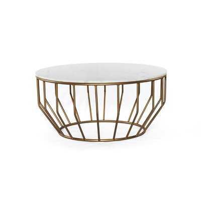 Bledsoe Gold Leaf Coffee Table - Wayfair