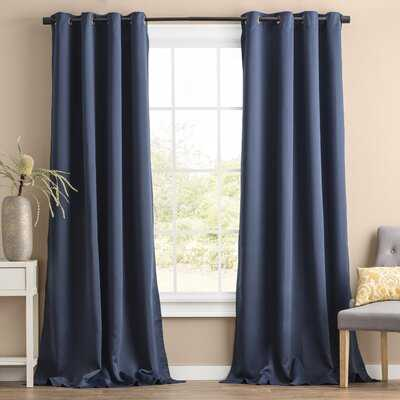Solid Blackout Thermal Grommet 2 Curtains / Drapes - Birch Lane
