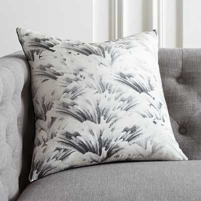 """18"""" Wings Black and White Pillow with Feather-Down Insert - CB2"""