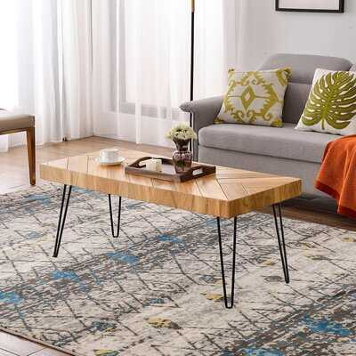 Modern Hairpin Legs Design Wooden Coffee Table - Wayfair