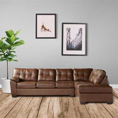 """Mick 120"""" Right Hand Facing Sectional with Ottoman - Wayfair"""