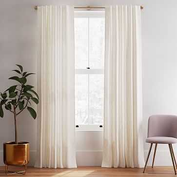 "Hand Drawn Diamond Curtain, Set of 2, Misty Rose 48""x84"" - West Elm"