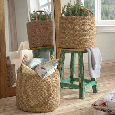 Jute 2 Piece Wicker Basket Set - Wayfair