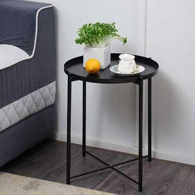 Otwell Cross Legs Tray Top End Table - Wayfair