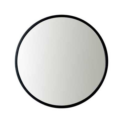 Utopia Alley Bathroom Round Mirror, Wall-Mounted Bathroom Mirror, 24''Modern Black Metal Frame - Home Depot