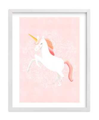 Unicorn & Blooms Children's Art Print - Minted