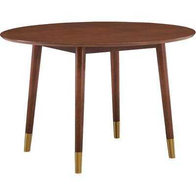 Amata Walnut Solid Wood Dining Table - Wayfair