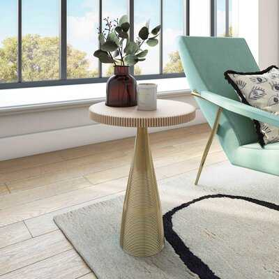 Sanmiguel Pedestal End Table - Wayfair