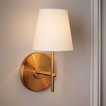 Arc Mid-Century Sconce, Brass, 1-Light, Set of 2 - West Elm