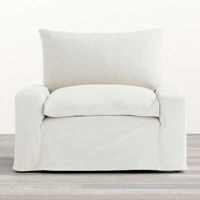 Ever Slipcovered Chair - Crate and Barrel