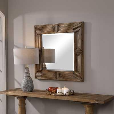 Traveler Geometric Square Mirror - Hudsonhill Foundry