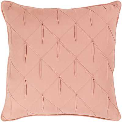 Artistic Weavers Hansel Blush Solid Textured Down 18 in. x 18 in. Throw Pillow - Home Depot