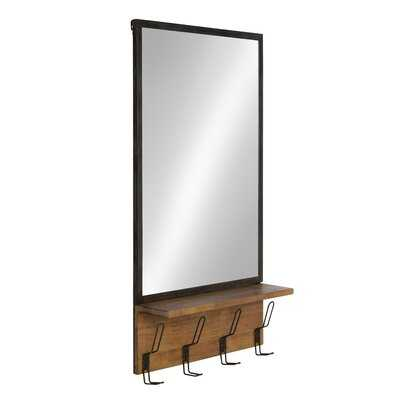 Jacobsen Industrial Distressed Accent Mirror with Shelves - AllModern