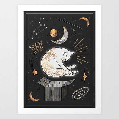 Ruler Of The Universe - Dreaming Cat Art Print by Elisabeth Fredriksson - LARGE - Society6