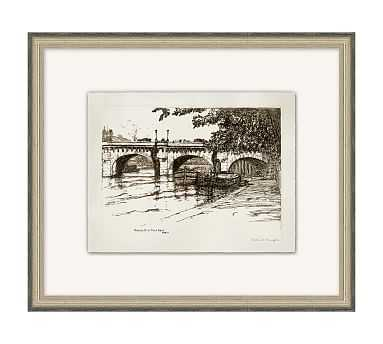 "Bridges of the Seine 1 Framed Print, 20"" x 17"" - Pottery Barn"