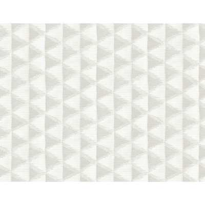 Seabrook Designs Tamarack Metallic Pearl & Off-White Triangle Geo Wallpaper - Home Depot