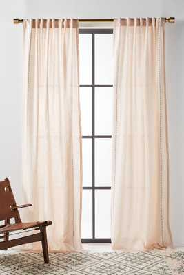 Stitched Linen Curtain - Anthropologie