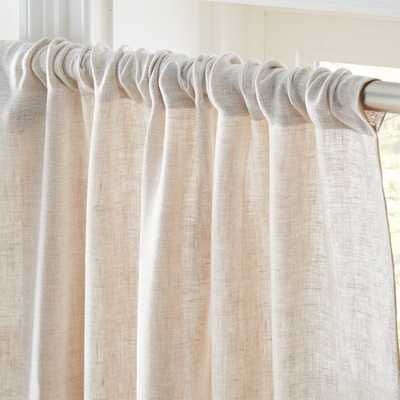 Dos White and Natural Two-Tone Curtain Panel - CB2