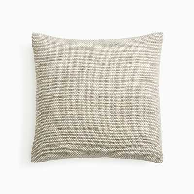 "Two Tone Chunky Linen Pillow Cover, 20""x20"", Natural, Set of 2 - West Elm"
