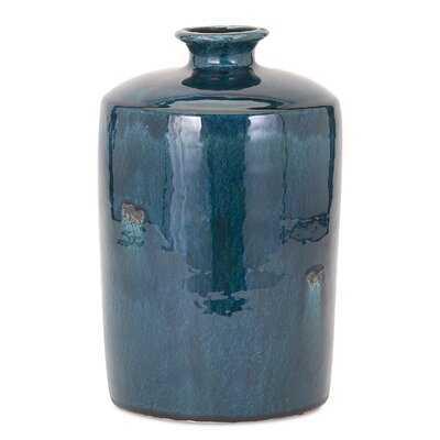 Midgegooroo Blue Trumpet Table Vase - Wayfair