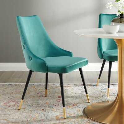 Girardi Velvet Upholstered Side Chair - Wayfair