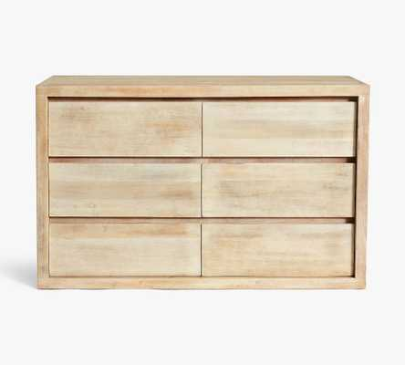 Cayman 6-Drawer Wide Dresser, Biscotti - Pottery Barn