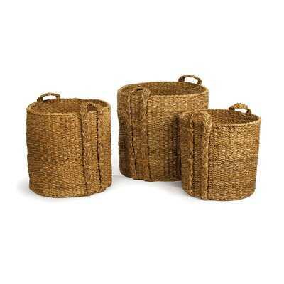 3 Piece Wicker Basket Set - Wayfair