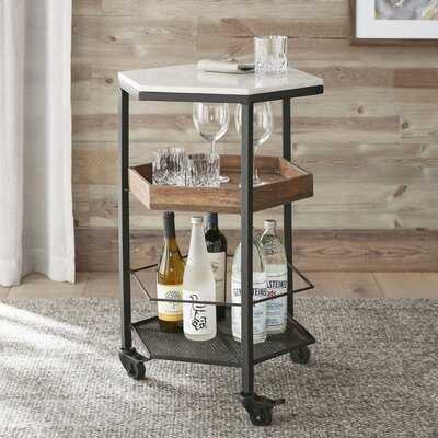 Cleobury Hexagon Marble Top Bar Cart - Birch Lane