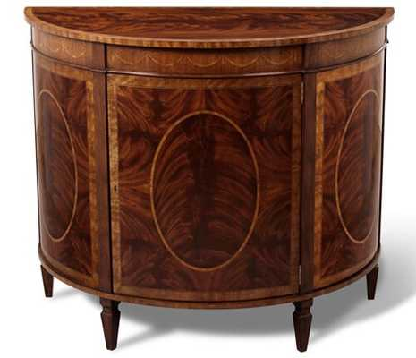 Scarborough House Demilune Accent Cabinet - Perigold