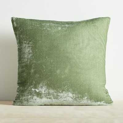 """Lush Velvet Pillow Cover, 20""""x20"""", Eucalyptus - West Elm"""