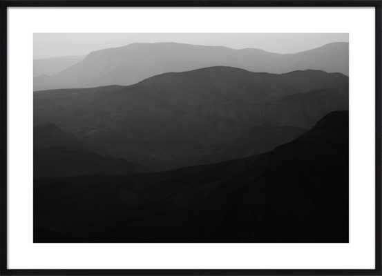 Mountains of the Judean Desert by Tal Paz-Fridman for Artfully Walls - 40x28 - Black Wood frame with Matte - Artfully Walls