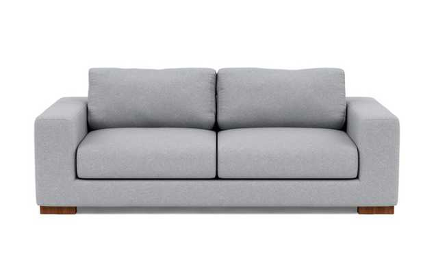 Henry Sofa with Grey Gris Fabric and Oiled Walnut legs - Interior Define