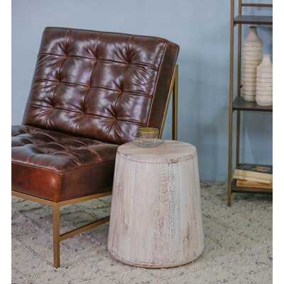 Hirano Solid Wood Drum End Table - Wayfair