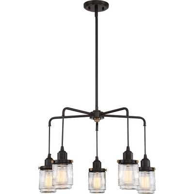 Quoizel Belmont 5-Light Western Bronze Chandelier - Home Depot