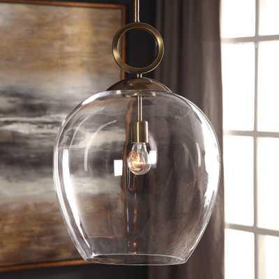 Calix Large Blown Glass 1 Light Pendant - Hudsonhill Foundry