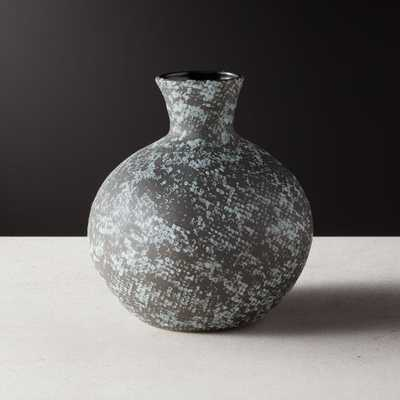 Messina Black Snake Print Vase - CB2