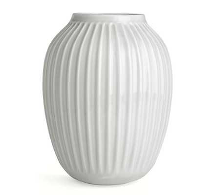 Kahler Hammershoi Vase, White Porcelain, Medium - Pottery Barn