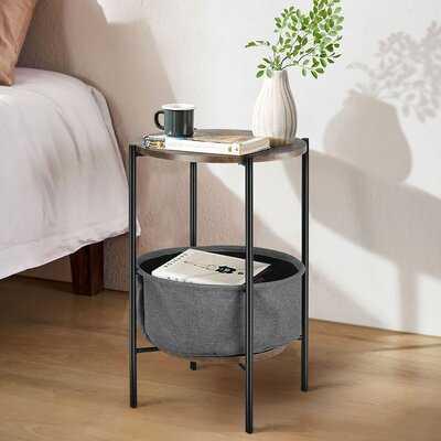 Rebecka End Table with Storage - Wayfair