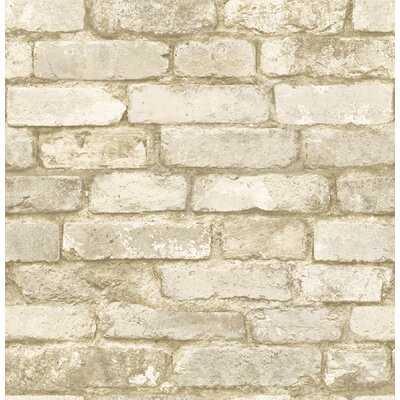 "Tisbury 33' x 20.5"" Brick Wallpaper - Birch Lane"