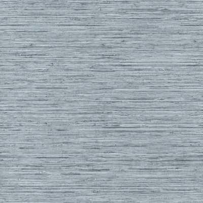 RoomMates 28.18 sq ft Grasscloth Peel and Stick Wallpaper, blue/ grey - Home Depot