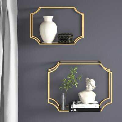 Aayush 2 Piece Metal Wall Shelf Set - Wayfair