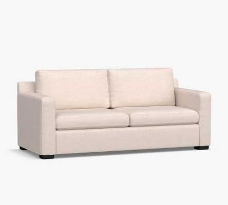 Shasta Square Arm Upholstered Sleeper Sofa, Memory Foam Cushions, Twill Cream - Pottery Barn