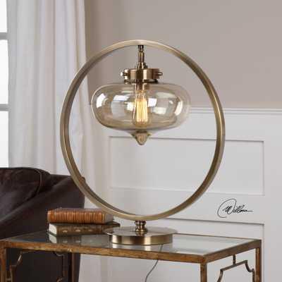 Namura Antiqued Brass Accent Lamp - Hudsonhill Foundry